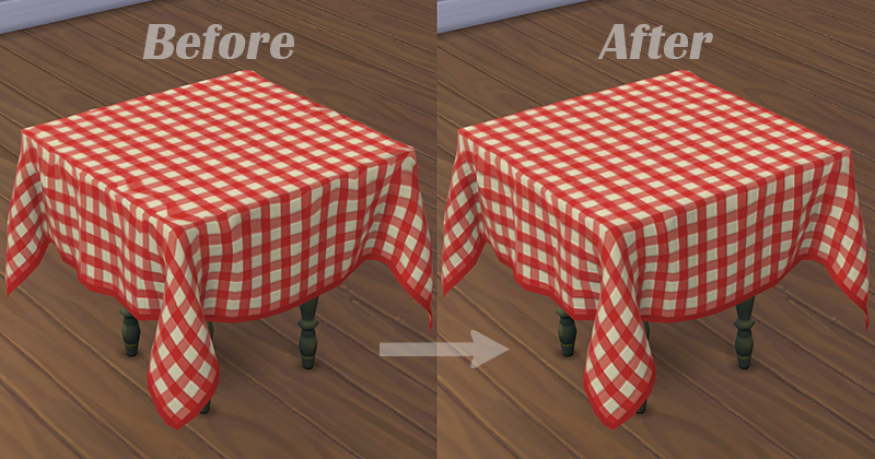 Tablecloth Set (for The Sims 4) | DaraSims net