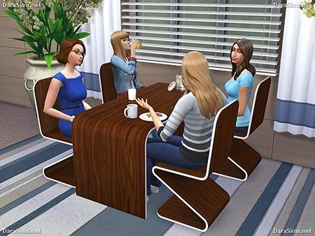 dining furniture set sims 4 dara savelly