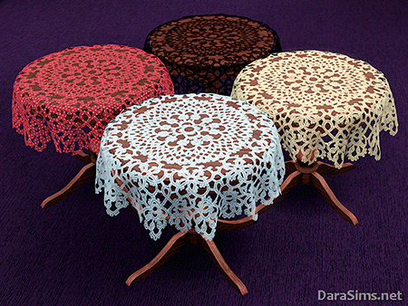 lace tablecloth set2 sims 3