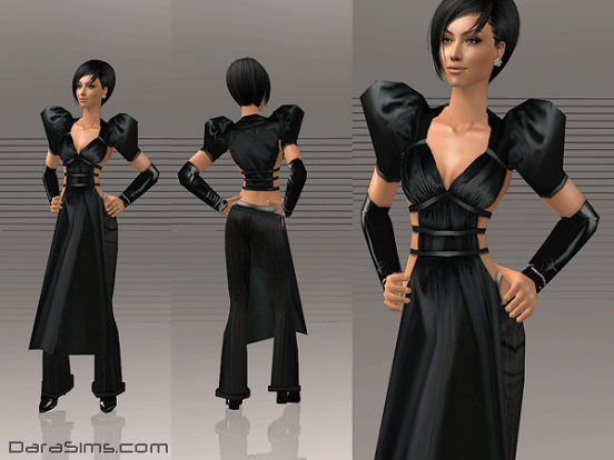 costume with pinner black sims 2