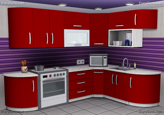kitchen furniture set sims 3 by dara savelly