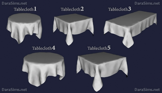 tablecloth set sims 4 by dara savelly