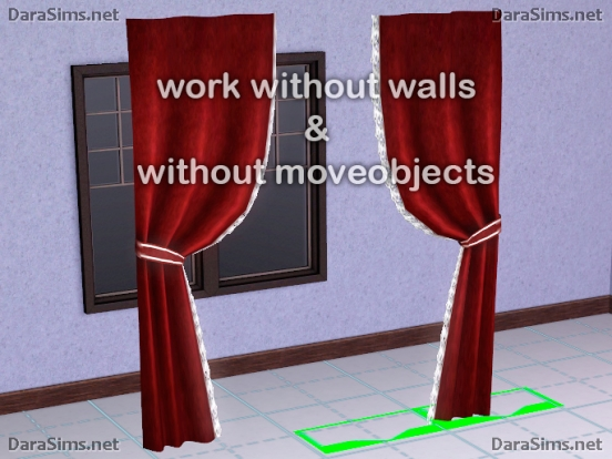 modular curtains sims 3