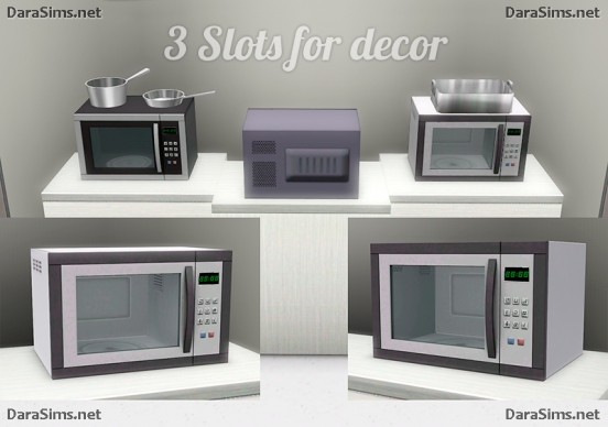 kitchen microwave sims 3