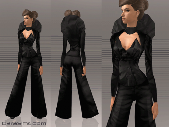 costume with collar black sims 2