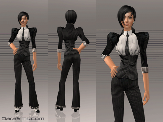 costume with corset sims 2