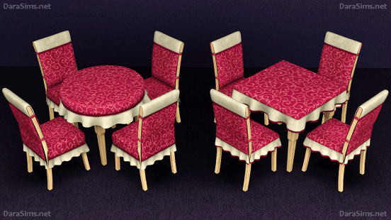 dining set with cloth sims 3 by darasims