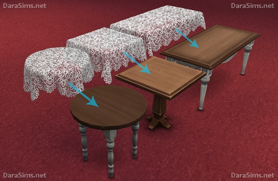 lace tablecloth set sims 4 by darasims