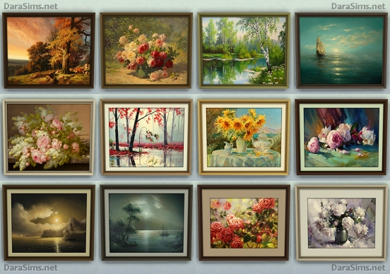 paintings set sims 4 by darasims
