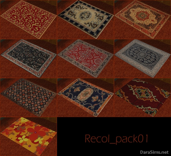 set of floor rugs sims 2