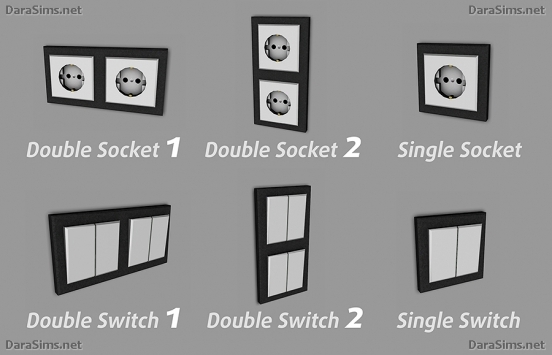 switches and sockets sims 4 by darasims