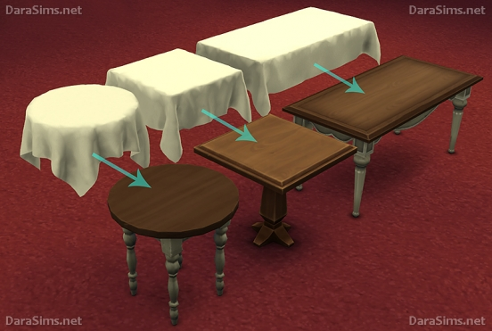 tablecloth set sims 4 by darasims