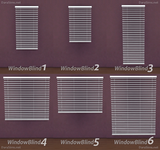 window blinds sims 4 by darasims