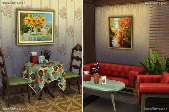 paintings set sims 4