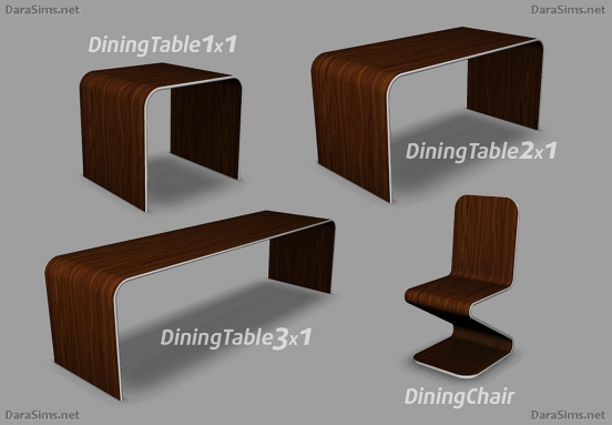dining furniture set sims 4