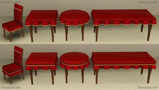 dining set with cloth sims 3