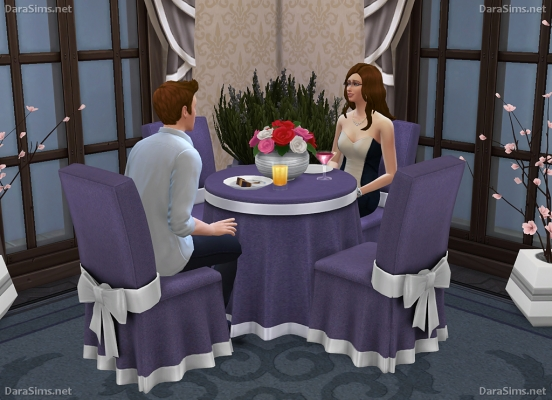 festive dining set sims 4