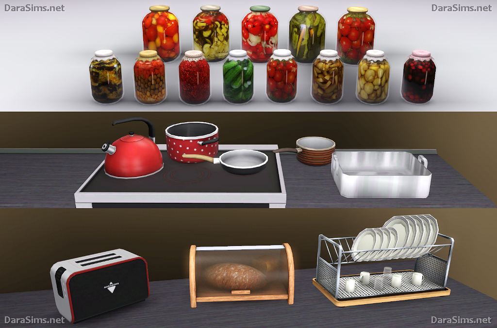 Kitchen Decor Set (The Sims 3) | DaraSims.net