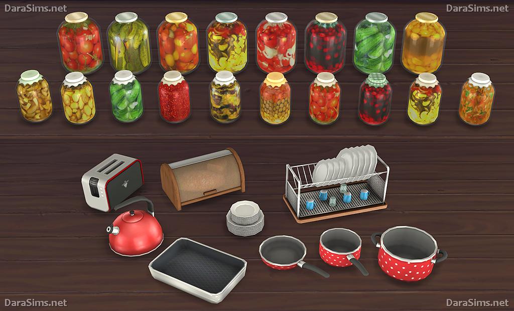 Kitchen Decor Set The Sims 4 Darasims Net