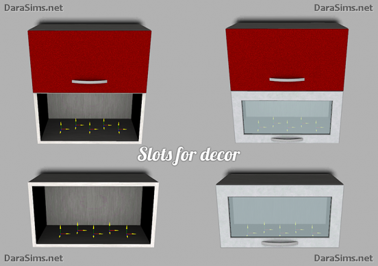 kitchen cabinet slots sims 3