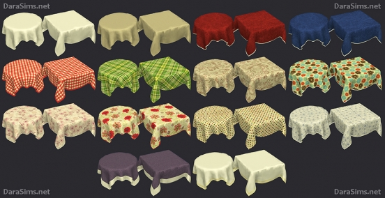 tablecloth set sims 4