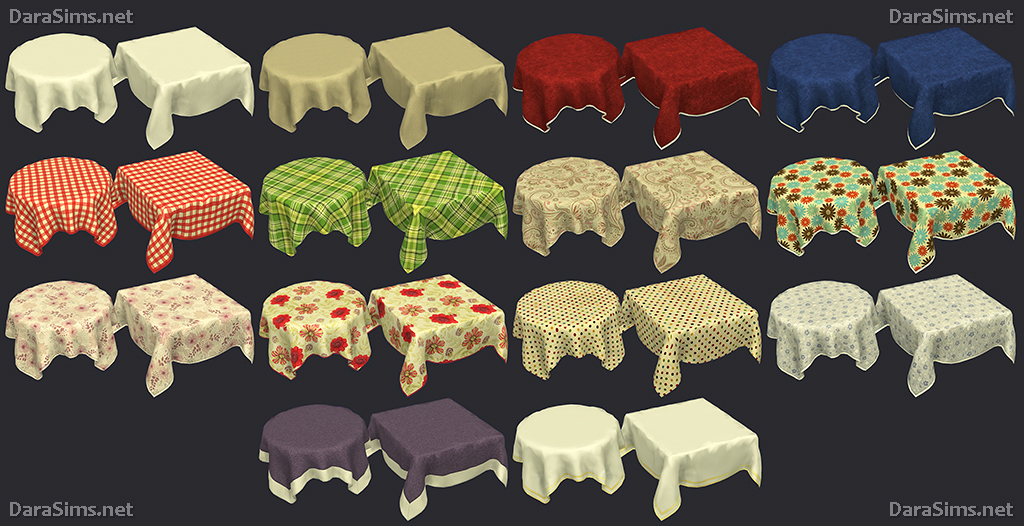Tablecloth Set For The Sims 4 Darasims Net