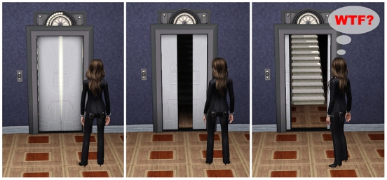 comics elevator sims 2 dara savelly