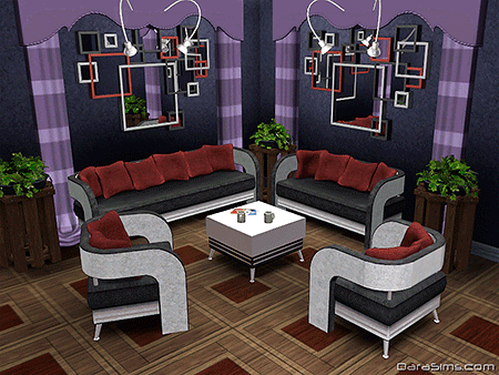 living set with pillows sims 3