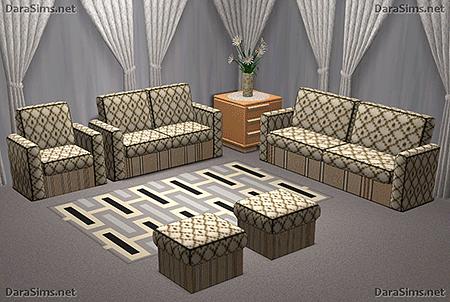 upholstered furniture set sims 2