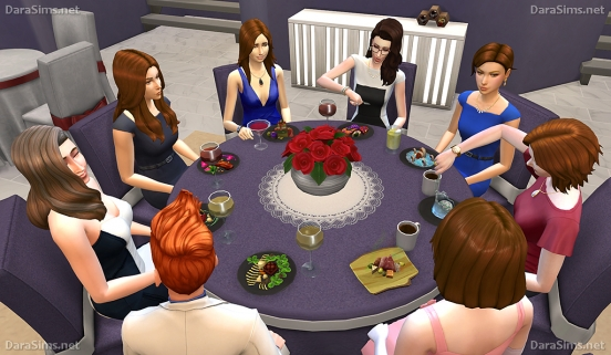 round table in sims 4 dine out