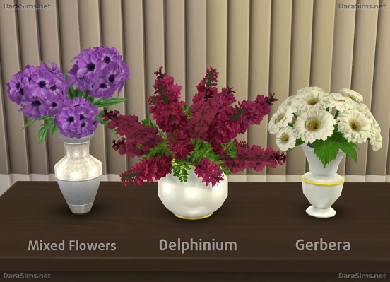 decor flowers the sims 4