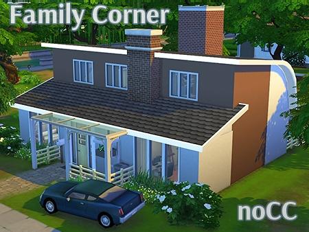 family corner - house sims 4 nocc