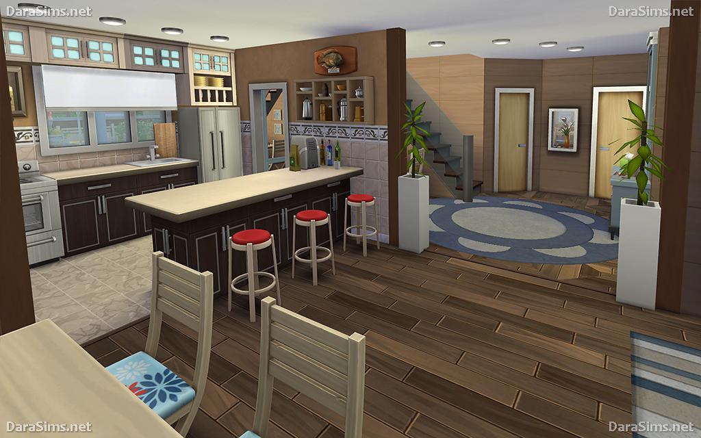 Family Corner – House for Sims 4 (noCC) | DaraSims net
