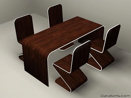 modern dining set sims 3