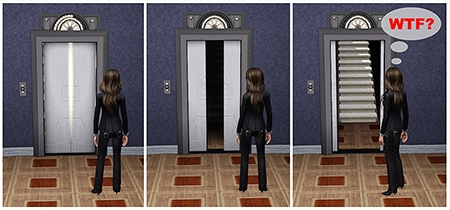 comics elevator sims 2 darasims