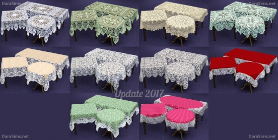 lace tablecloth sims 3 recolors