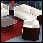 Набор мягкой мебели для гостиной + стеклянный столик