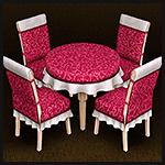 Столовый набор мебели с чехлами и скатертями