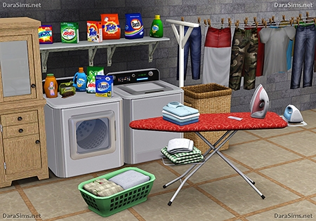 laundry decor set sims 3 by dara savelly