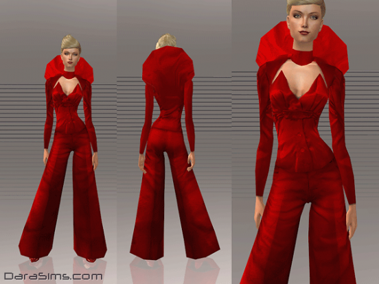 costume with collar red sims 2
