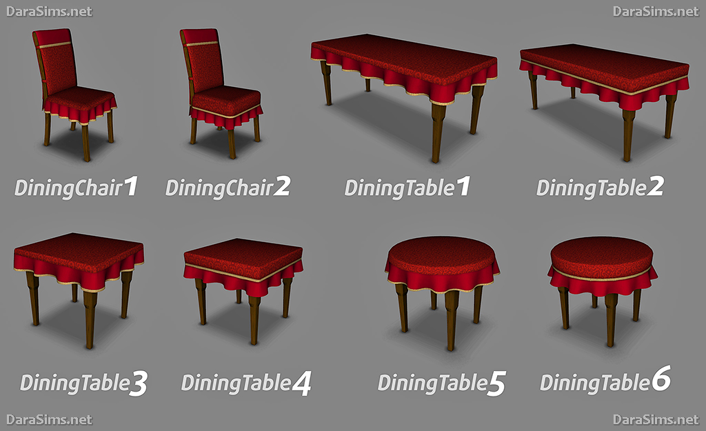 Dining Set With Cloth Sims 3 By Dara Savelly ...