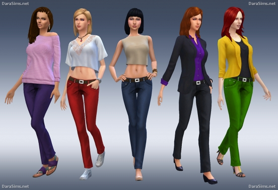 female jeans sims 4 by dara savelly