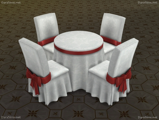 festive dining set sims 4 dara savelly
