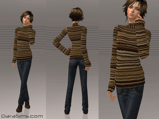 knitted sweater with jeans sims 2