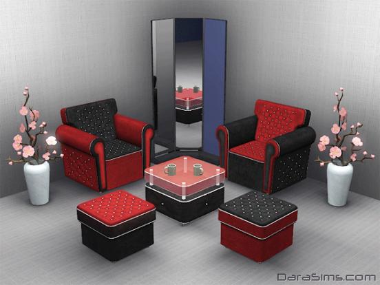 livingroom set sims 3