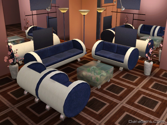 tube living set sims 3