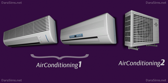 air conditioners sims 4 by darasims