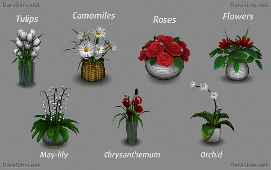 flower set sims 4 by darasims