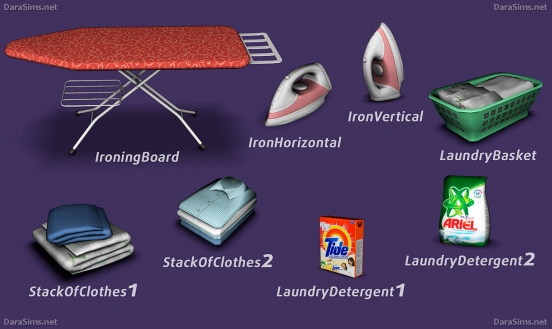 laundry decor set sims 3 by darasims