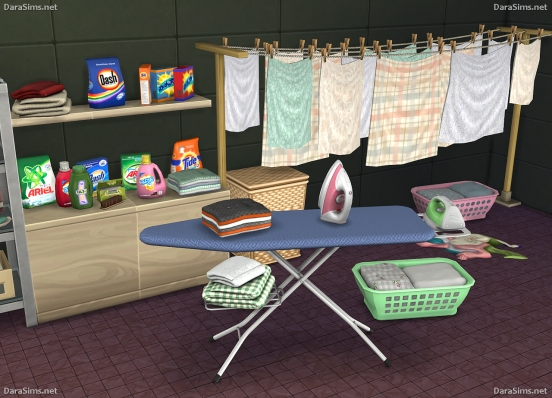 laundry decor sims 4 by darasims